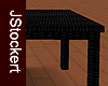Black Wicker Table