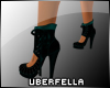 UF Studded Shoe Blk/Teal