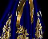 Blue&Gold Kimono Bottom