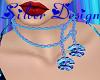 SW 2 Blue Rose Necklace