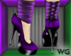 Ankle Plat Heels Purple