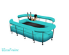 LPF Blue couch with tabl