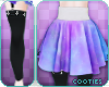 +c+ Skirt | Pastel Galax
