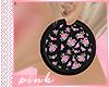 PINK-Flowers Earings