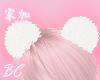 angel white hair puffs