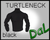 Black Turtleneck 3/4 slv