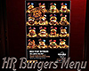 [M] HR Burgers Menu