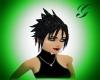 jet black hair
