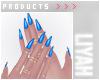 ت Blue Nails