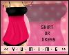[Y] Shirt Dress ~HotPink