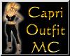 MC~ Blk-Gld 2pc CapriSet