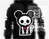 !J Skeleton Rat Hoodie M