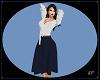 KP Blue Midlength Skirt
