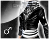 !T Random leather top