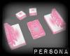 Double Sofa Pink & wht