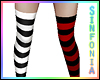Black White Red Socks