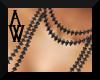 [AW]Blk Diamond Necklace