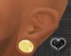 *Small Gold Ear Plugs