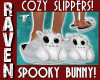 SPOOKY BUNNY SLIPPERS!