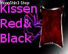kissen red black