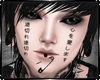 Broken Love Face Tatto