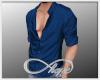 Half-Button Shirt Blue