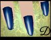 {D} Navy Blue Nails