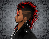 Black Mohawk Red Tips