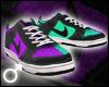 Purple/Aqua Dunks