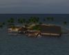 Huge night time island