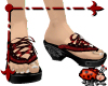 Babouche Sandals- Red