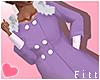 Lilac Fur Coat e