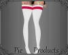 ~P; Thigh Socks WhitePnk