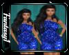 Flower Royal Blue Dress