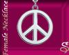*Silver Peace Pendant F