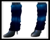 Boots W/blue warmers
