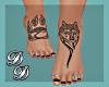 Wolf Tats and Blk Nails