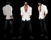Open White Shirt