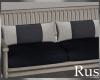 Rus Navy Wood Bench