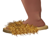 Alma-Fluffy Gold Slipper