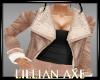 [la] Beige jacket top