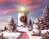 Glo* Snowmen 2 sided BG