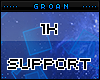 G| 1k Support Sticker