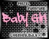 .L. Pastel BabyGirl Sign