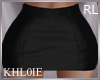 K leather black skirt RL
