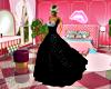 black diamonte gown