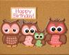 Kids Birthday Owls 1