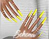 ṩ| Yellow Gel Nails