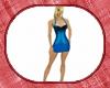 blue spiked dress med