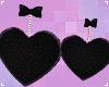 . fuzzy onyx heart